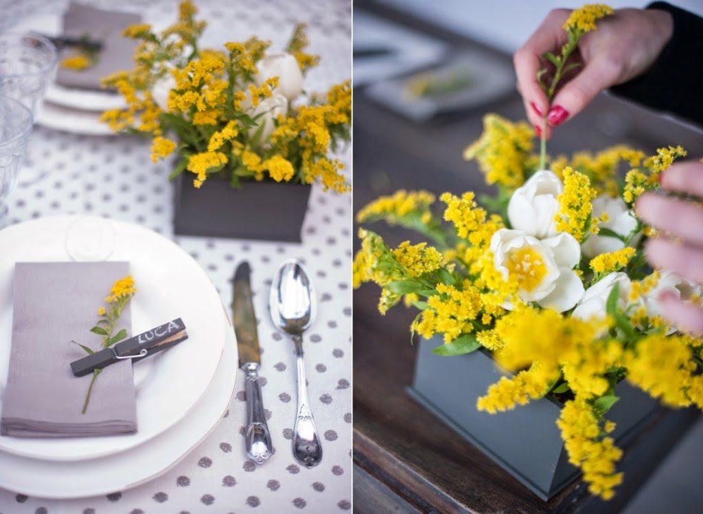 Una tavola ispirata al colore e all'energia del sole