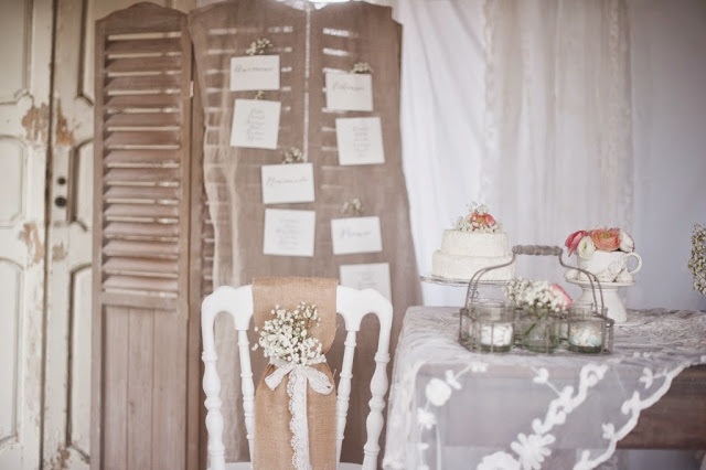 Idee DIY per un matrimonio in stile shabby chic