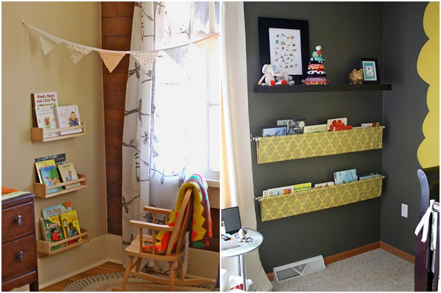 fabricbunting reading corner
