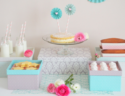 Sweet Table con scatole decorate