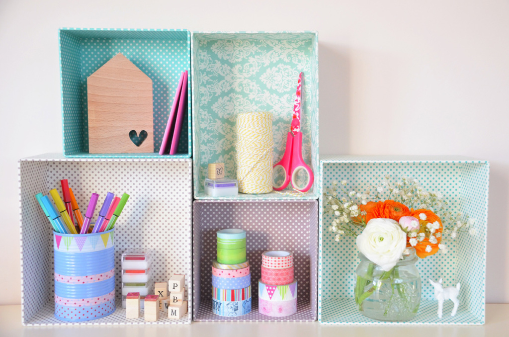 Organizer scatole decorate